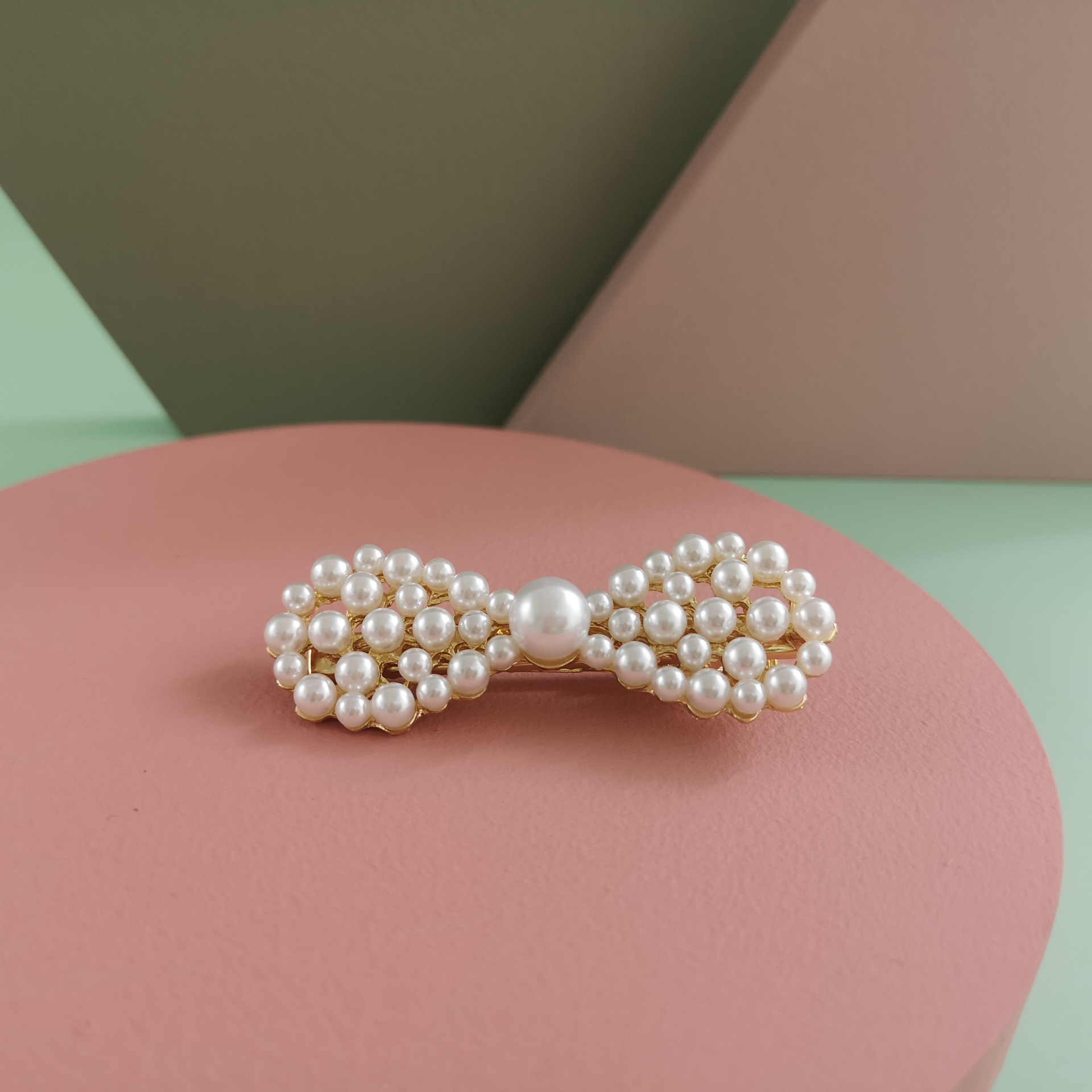 New fashion pearl hairpin variety duckbill bow geometry cheap hairpin wholesale NHJJ210479
