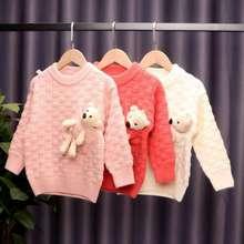 男童针织毛衣中小童小熊套头2020新款女童秋冬装洋气儿童线衣外套