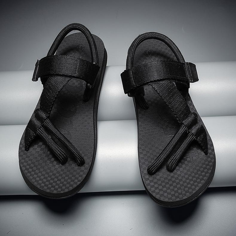 欧美潮流编织男鞋凉鞋