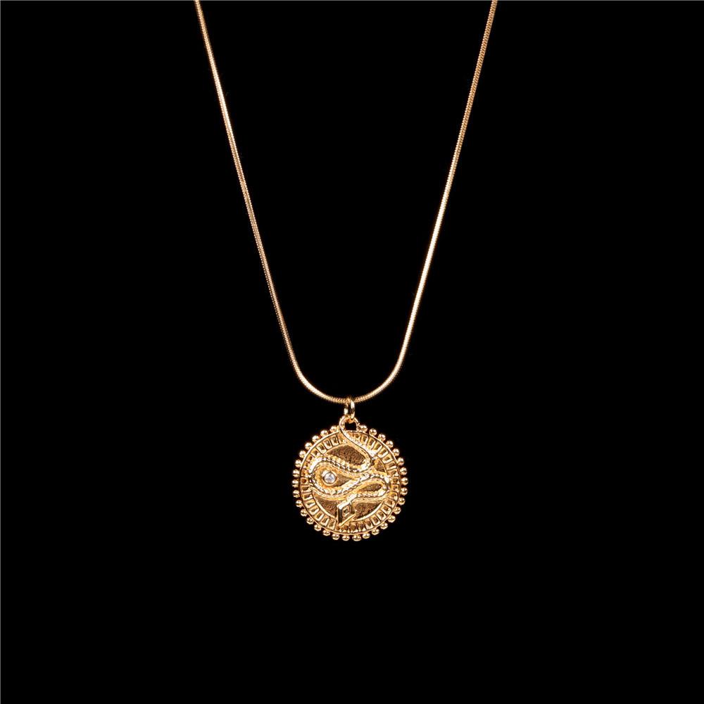 Edelstahl Schlangenknochenkette runde Schlangen Halskette Großhandel NHPY265820