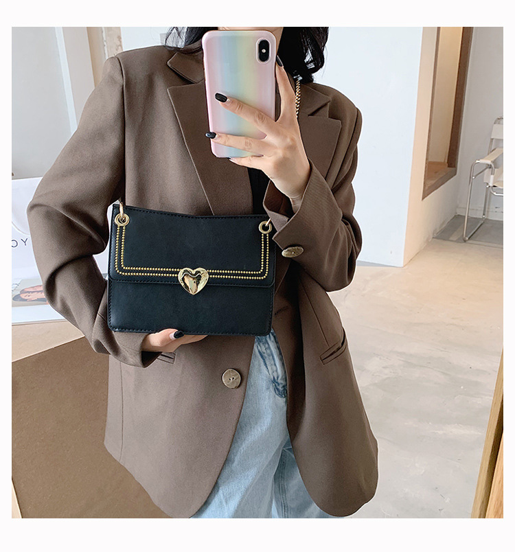Allmatch ladies oneshoulder portable popular new fashion texture messenger small square bag wholesale NHTC249290