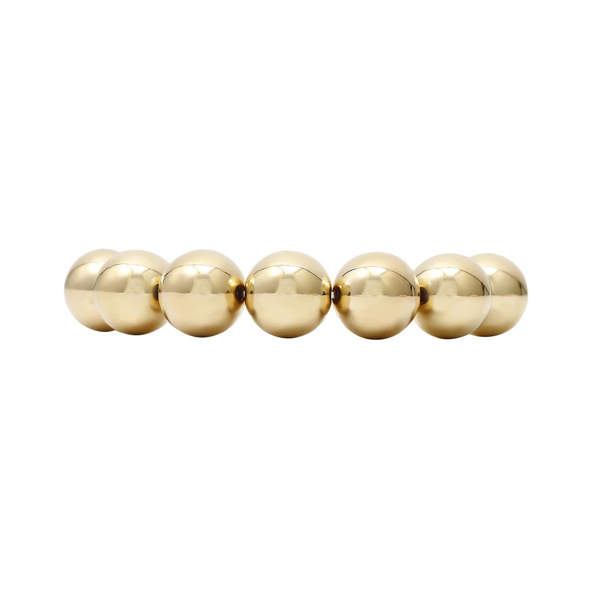 Fashion hip-hop exaggerated round bead chain bracelet fashion casual bracelet combination set NHXR201313