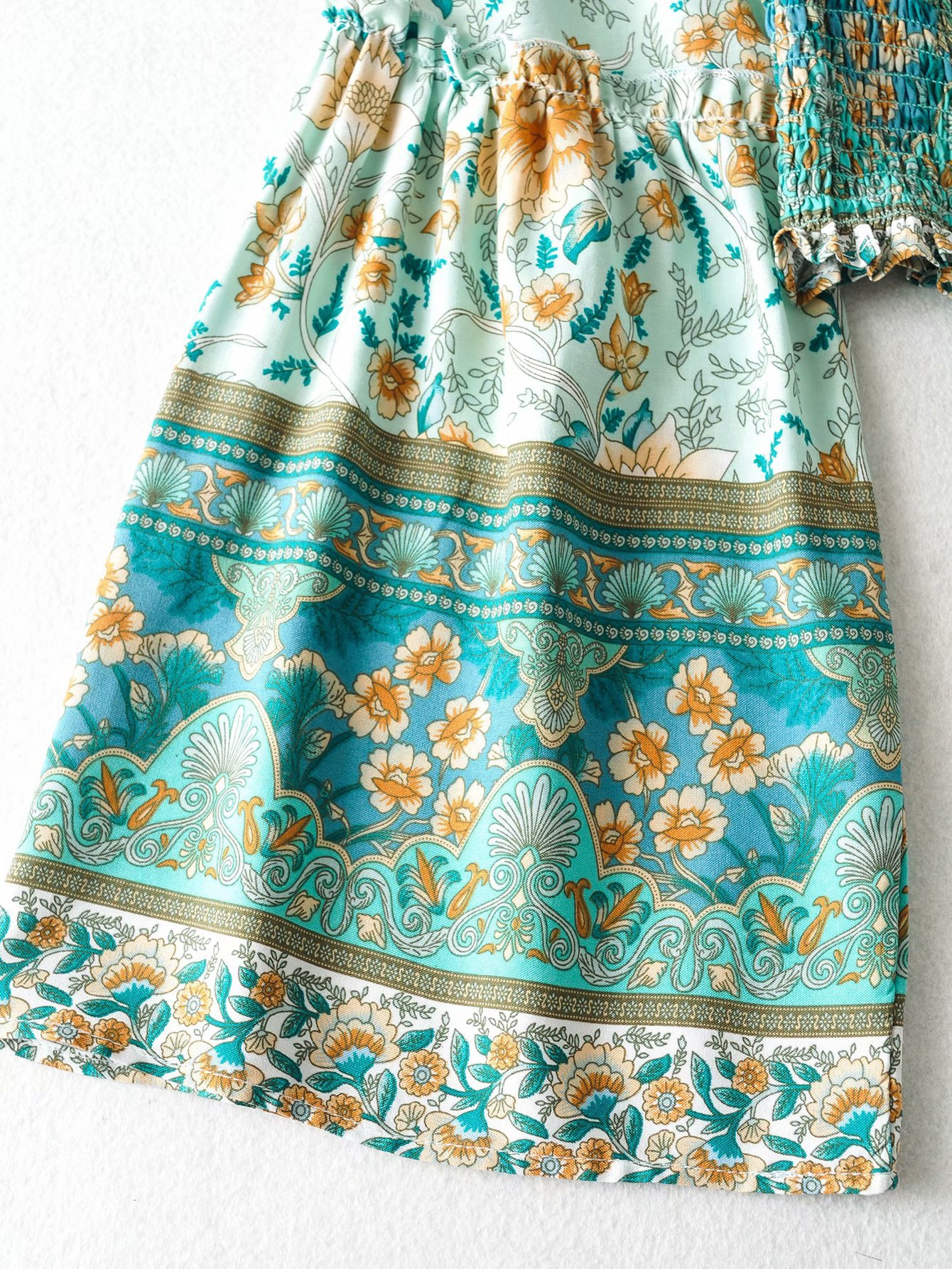 wholesale autumn cotton printed beach holiday shirt beach pants suit  NSAM4235