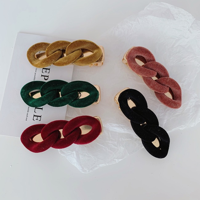 Korean hair clip new style pure color alloy side clip hairpin wholesale NHSM253152