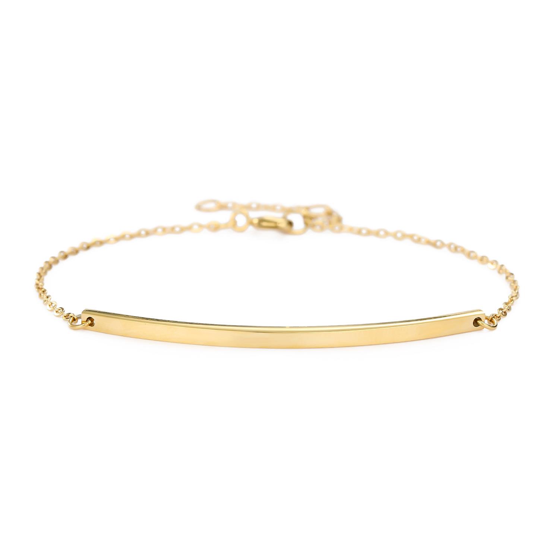 Korean stainless steel jewelry yiwu nihaojewelry wholesale simple word smile jewelry female bracelet NHJJ213466