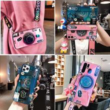 斜跨相机适用三星note20pro手机壳腕带S10/9/8+防摔套A51/A70蓝光