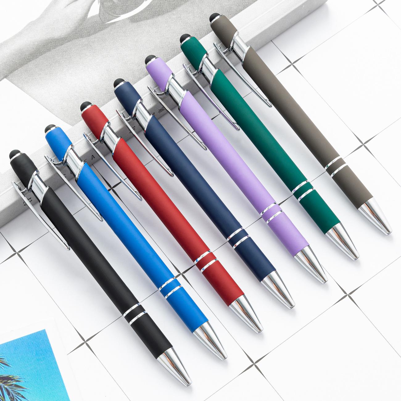 金属按动笔铝杆笔美极笔电容触控圆珠笔手写触屏笔定制logo礼品笔