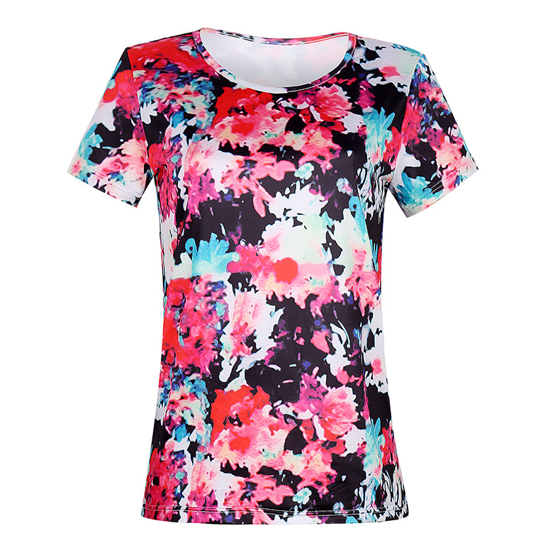 round neck short sleeve printing casual home service  NSKX8476