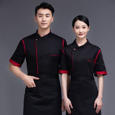 Chef overalls Hotel chef work clothes custom catering restaurant after the kitchen chef service pastry bakers work clothes customized