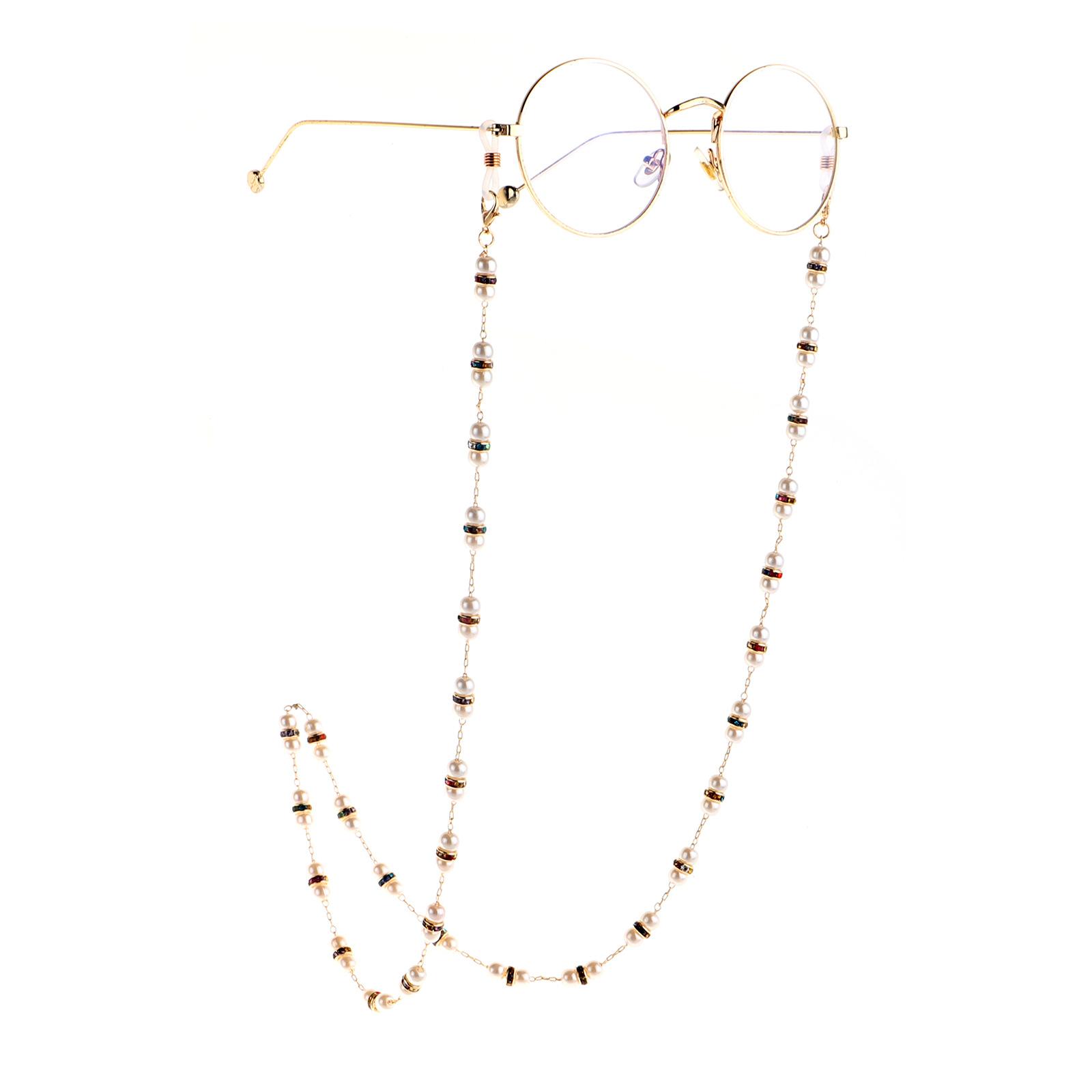 High-end rhinestone pearl non-slip handmade glasses chain personality fashion glasses rope lanyard glasses accessories wholesale nihaojewelry NHBC220567