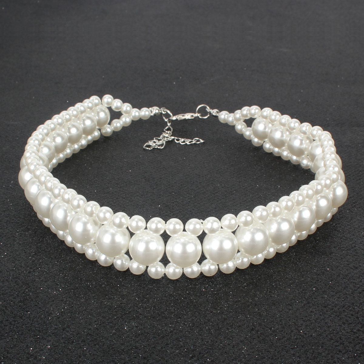 Fashion Handmade pearl Fashion exaggerated women's short multi-layer necklace  NHCT243252