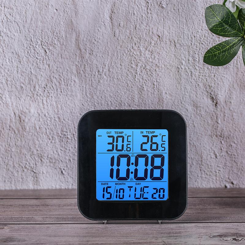 家用卧室多功能时钟 天气预报电子闹钟客厅桌面电子钟温湿度闹钟