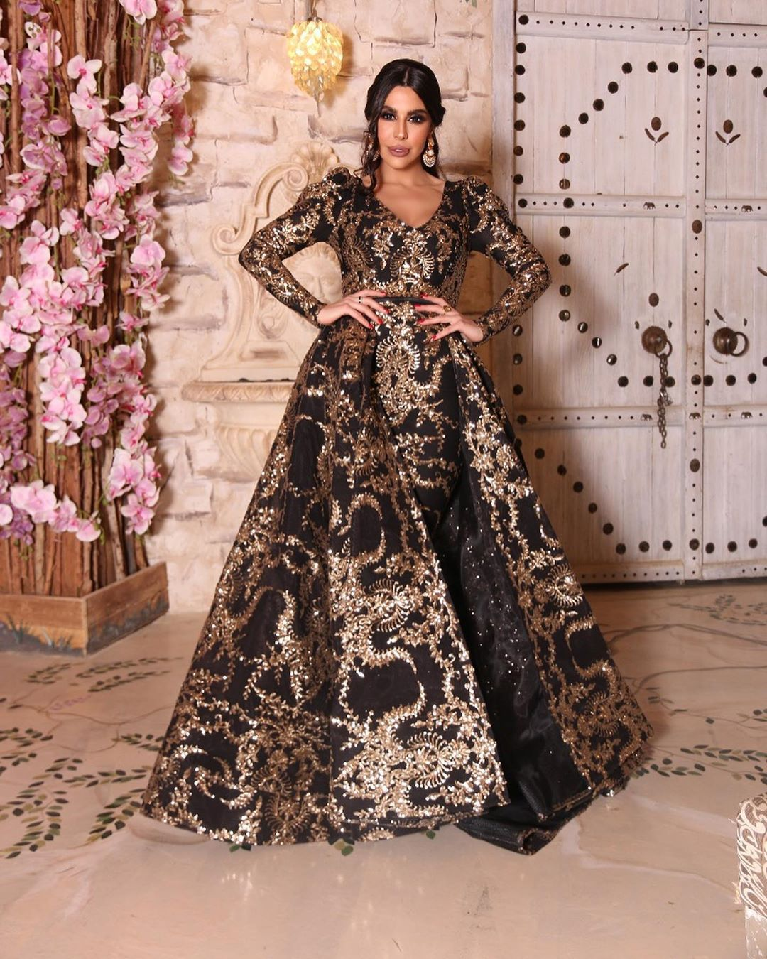 2020 New Europe and America foreign trade women's independent station hot stamping big sexy long skirt tailing party evening dress new