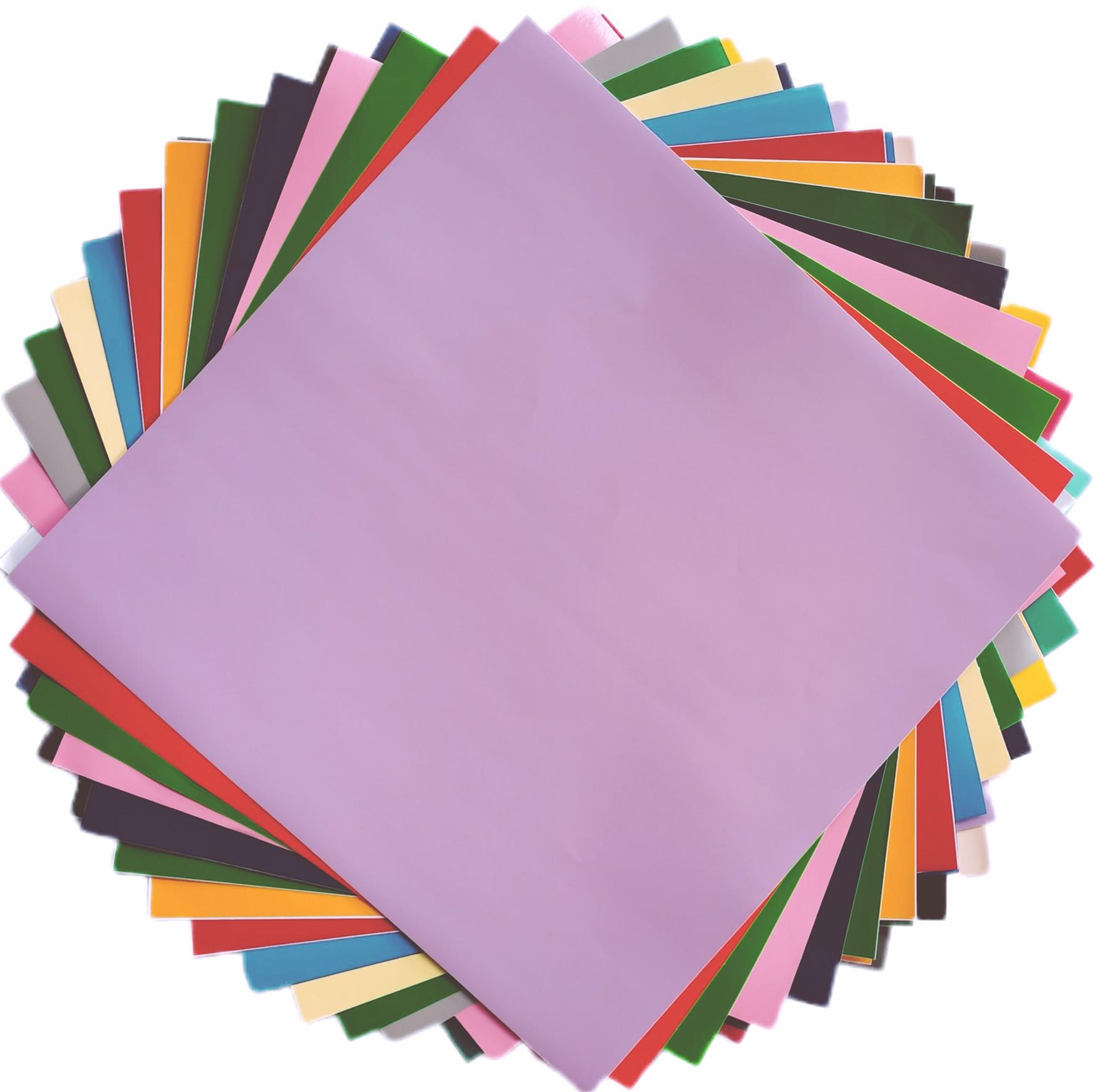 pvc不干胶彩色即时贴刻字贴自粘背胶防水防潮片装加厚墙贴纸壁纸