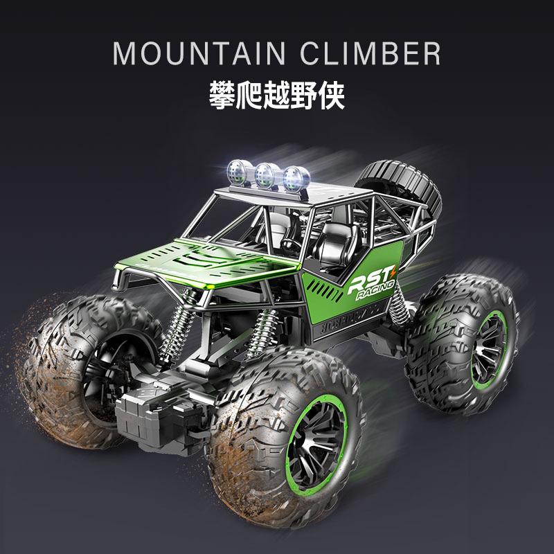 跨境儿童遥控车攀爬车充电动遥控汽车玩具合金遥控越野车大脚怪