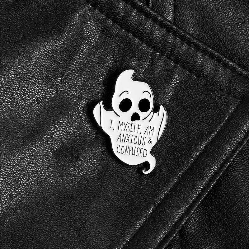 Ghost Dripping Alloy Brooch Shirt Lapel Ghost Pin Backpack Accessories Wholesale NHBO201361