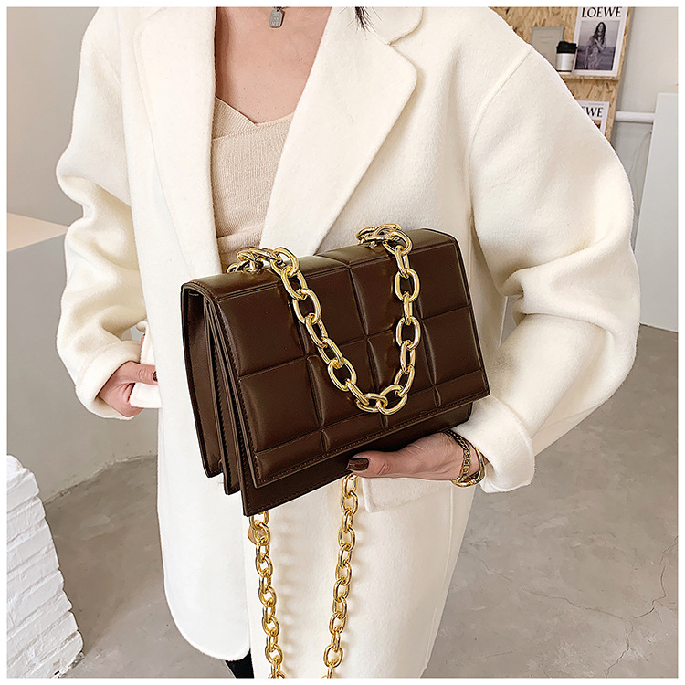 fashion thick chain square single shoulder bag NHJZ285828