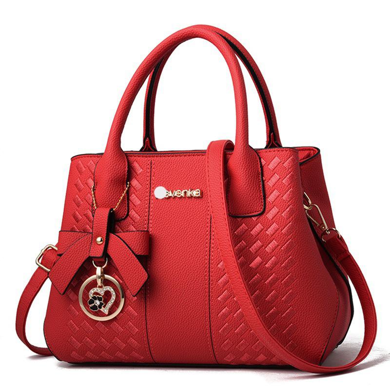 包包女2021欧美时尚手提大包潮中年绣线单肩斜挎包handbag