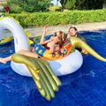 厂家直供 金色飞马浮排成人水上充气动物坐骑独角兽PVC充气躺椅