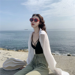Click high-end customization ~ women's mid-length sun protection clothing fairy loose 2020 new thin sun protection shirt jacket