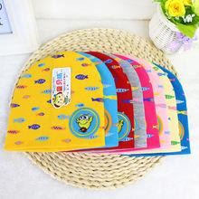包装婴幼儿纯棉双层帽子 秋季童新款独立宝宝套印花小鱼头帽