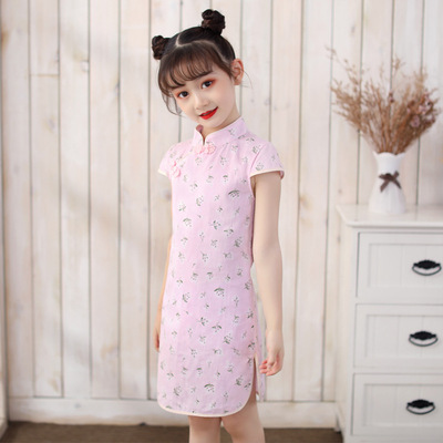 Cheongsam for kids Girl Chinese Dress cheongsam children Chinese Dress Retro girl Chinese Dress cheongsam national short sleeve girl Chinese Dress cheongsam