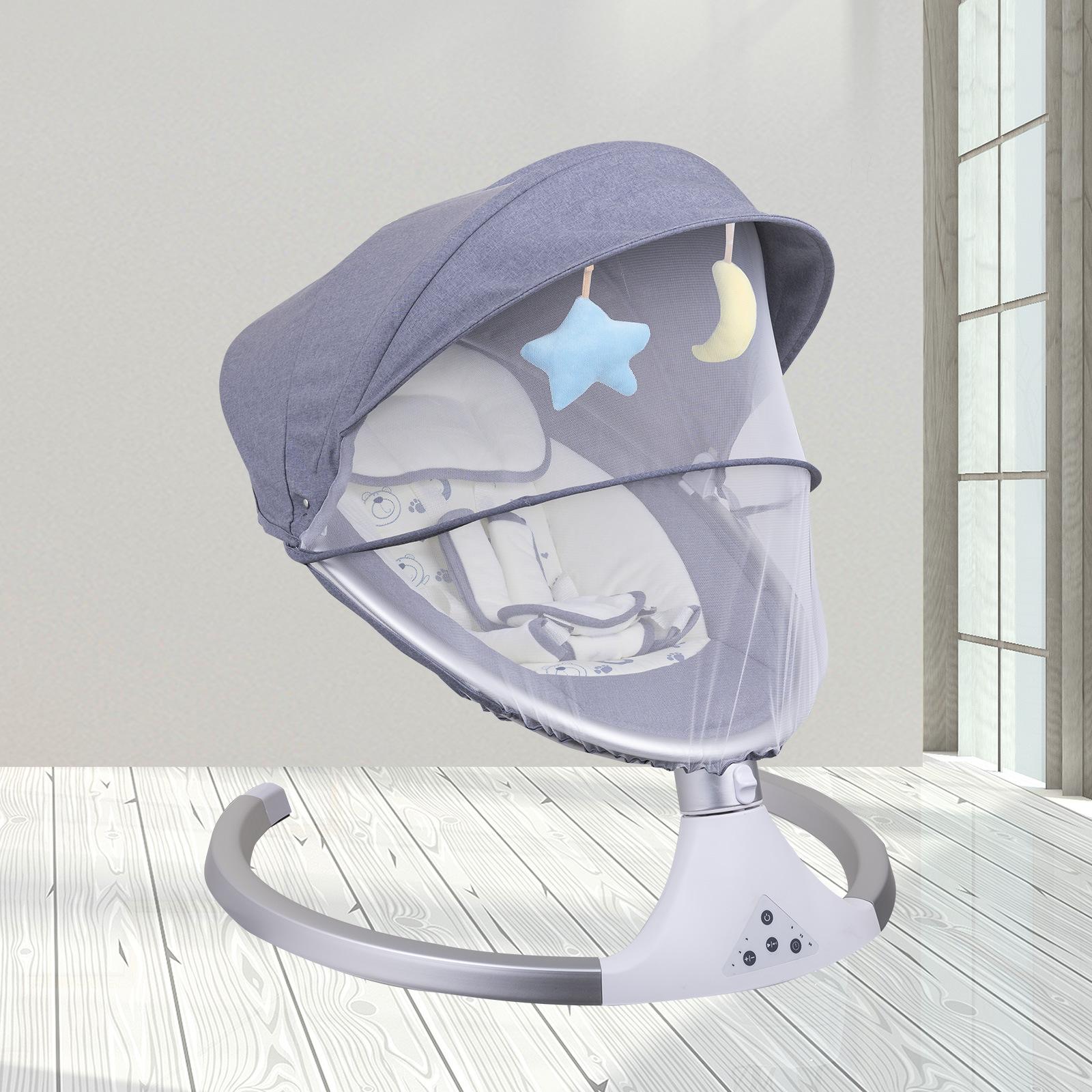 Coax baby artifact baby BB كرسي هزاز كهربائي مبيعات المصنع مباشرة جديد الذكية بلوتوث مهد سرير كهربائي