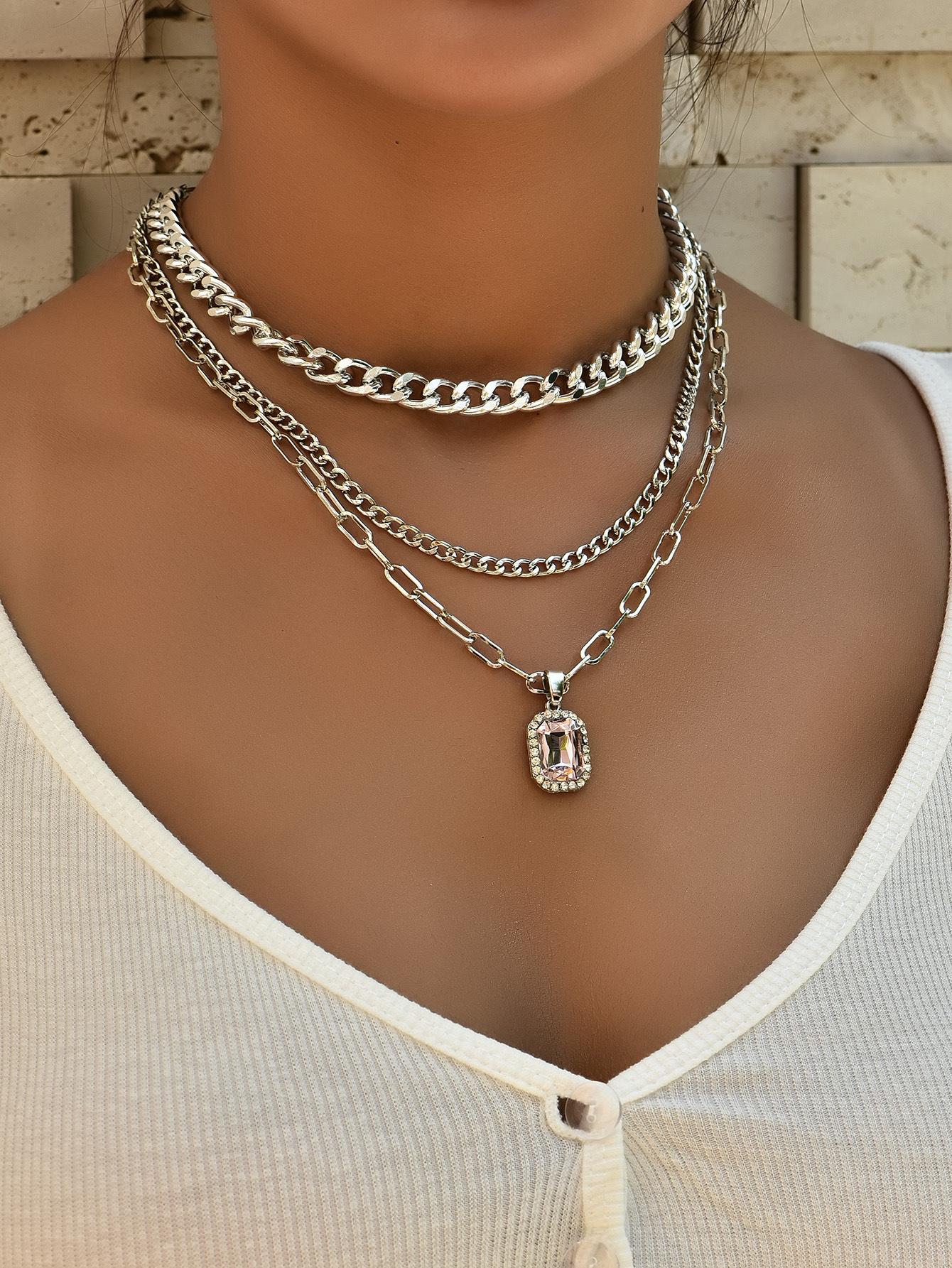 multi-layer unique shape fashion ladies new necklace  NHAJ261405