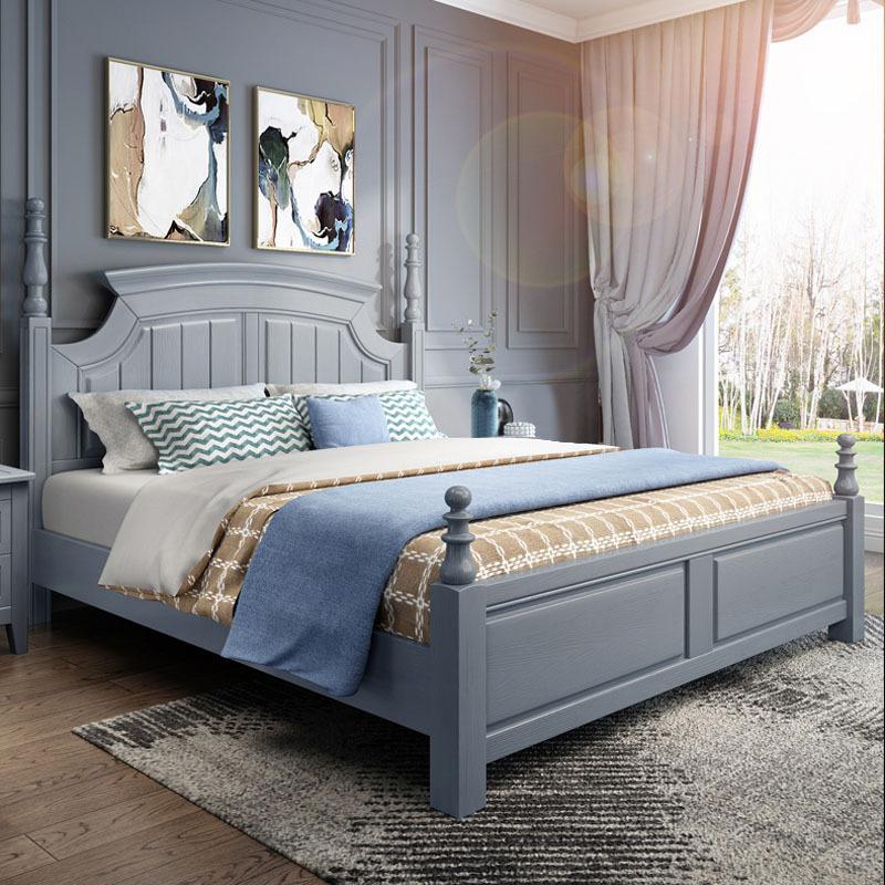 厂家直销新款美式实木床1.8米白色欧式双人床主卧室欧式公主婚床