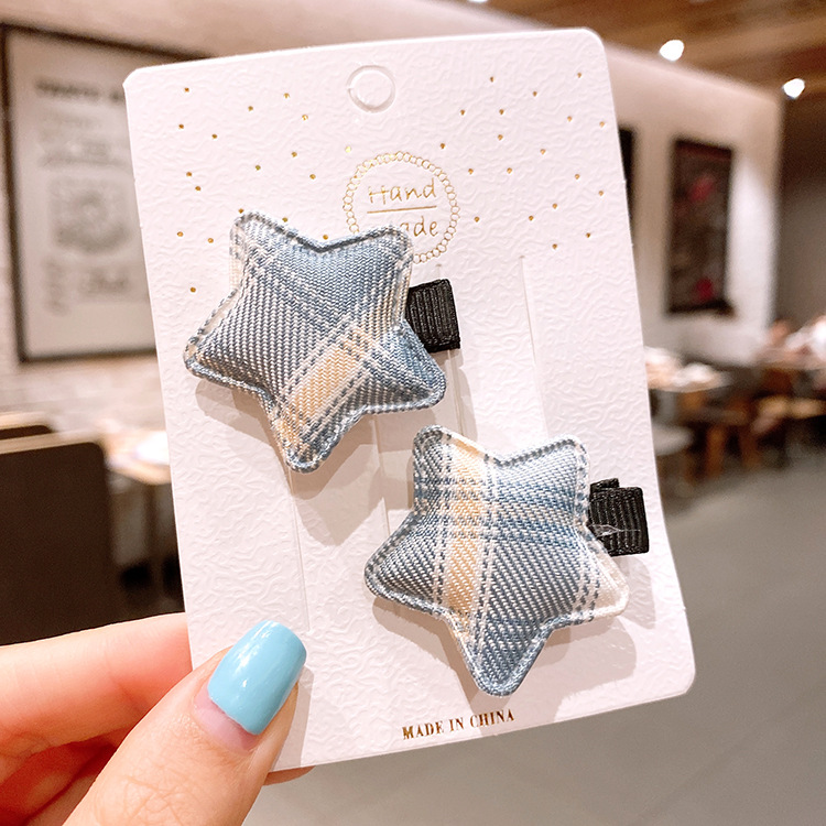 star hairpin girl small hairpin lattice simple and sweet headdress side bangs clip wholesale nihaojewelry NHSA239534