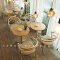 奶茶店定制桌椅 西餐厅餐厅饭店实木简约书吧桌椅组合 酒店椅子