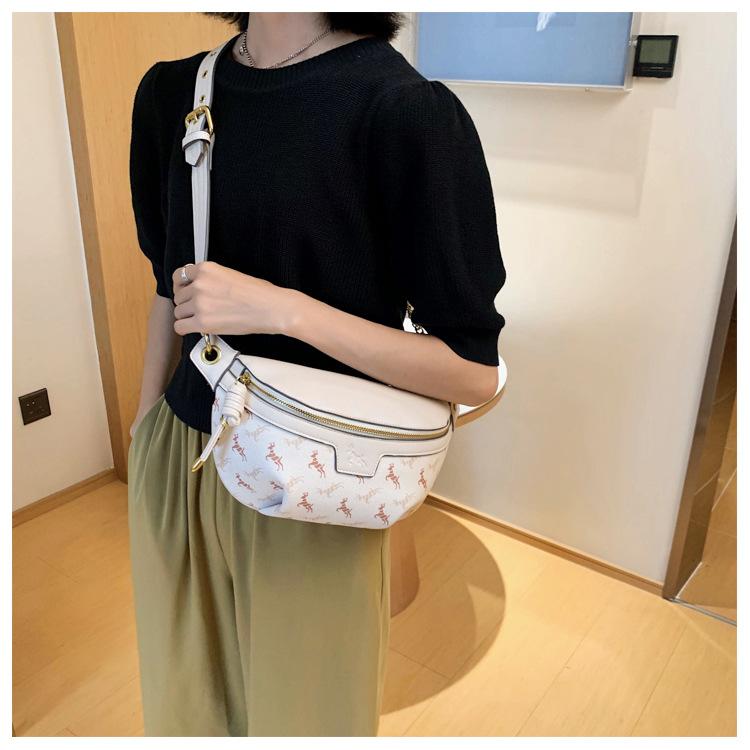 new wild casual simple shoulder messenger tide brand ladies small waist bag NHJZ247863