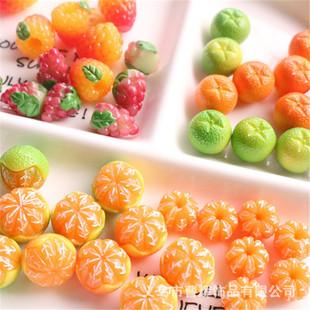 diy jewelry accessories simulation three-dimensional fruit orange creative earrings keychain handmade materials mobile phone accessories