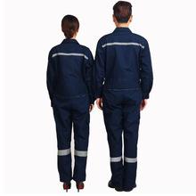 新款汽修車間連體工作服防護工裝耐磨勞保服工作服