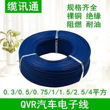 国标QVR0.3/0.5/0.75/1/1.5/2.5平方耐油环保绝缘超薄汽车电子线