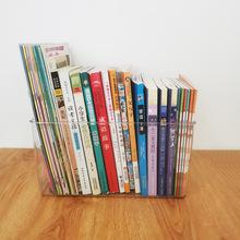 绘本书箱收纳盒桌面家用书籍透明储物盒 透明杂物收纳箱