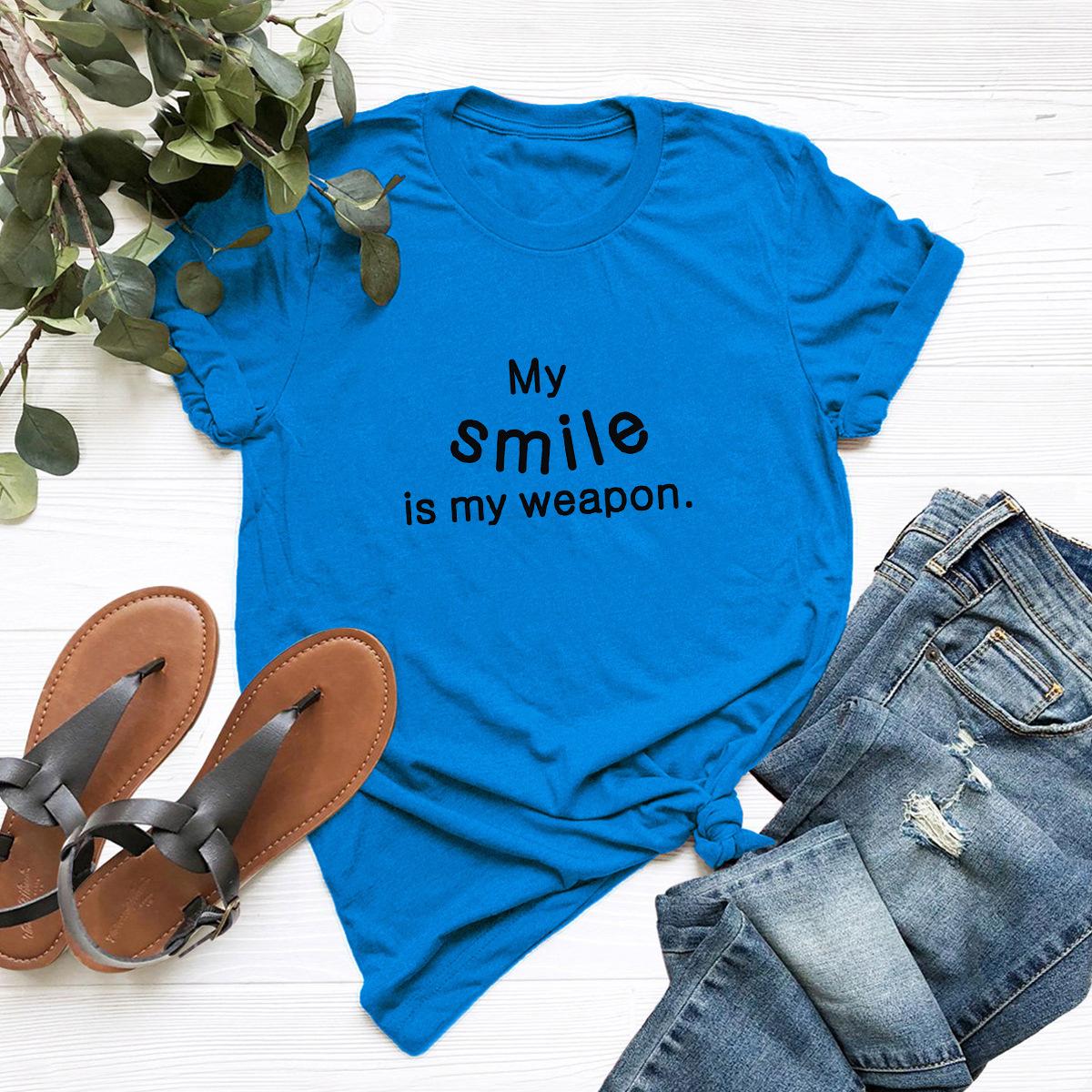 comfortable casual cotton short-sleeved women's T-shirt NSSN1656