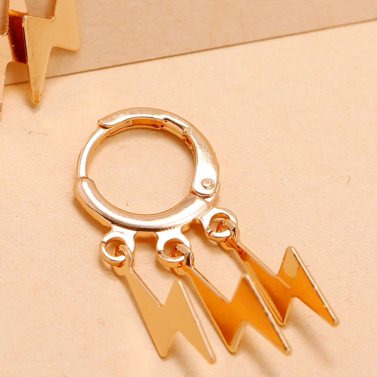 Simple fashion Lightning Pentagram Moon Love Variety Electroplating Round Button alloy Earrings  NHPV243725