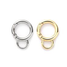 廠家直銷保色彈簧圈箱包配件金屬開口圓環葫蘆形毛球掛件鑰匙扣
