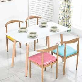 北欧桌椅写字椅食堂西餐厅网红店藤椅冷饮店经济型饮食店家具奶茶
