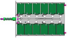 405nm12w激光制网机模块直接曝光机紫外激光器22w多路光纤模块405