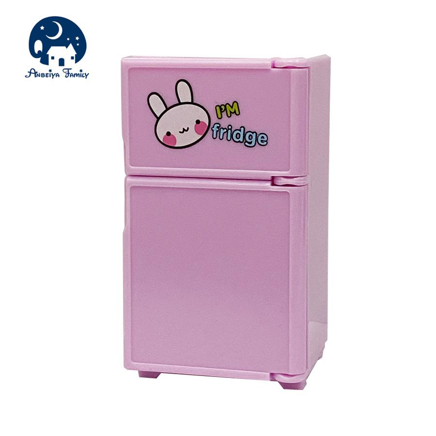 仿真玩具卡通冰箱1:12迷你家电过家家微缩家电具迷你场景配件套装