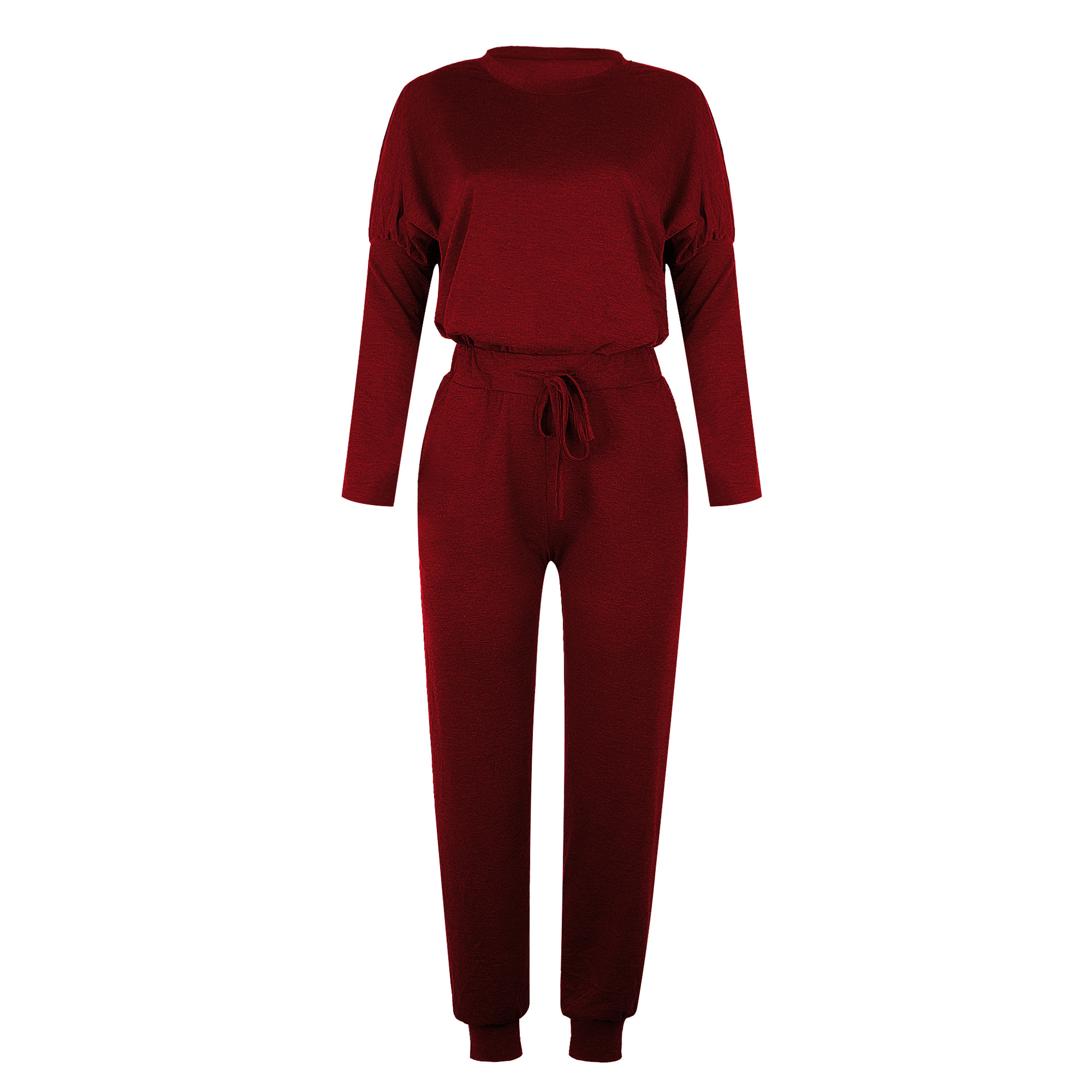 new women's autumn and winter loose solid color long-sleeved casual suit NSKX5783