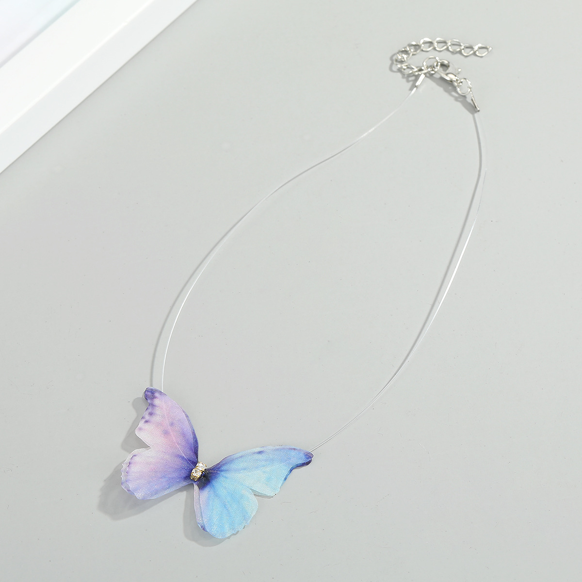 Super fairy jewelry butterfly necklace lace choker neck chain design sense clavicle chain wholesale nihaojewelry NHGO232055