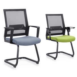 批发办公网椅广东会议室办公会议椅弓形脚员工椅柜台前台接待椅