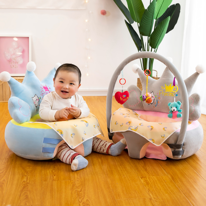 Baby Sofa Support Seat Cover Washable Toddlers Learning To Sit Plush Chair