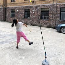 羽毛球训练器单人儿童羽毛球回弹便携一个人回旋陪练训练器家用