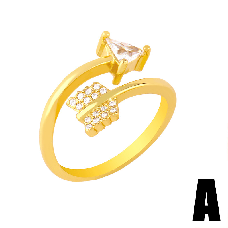 creative simple chain open ring NHAS293703