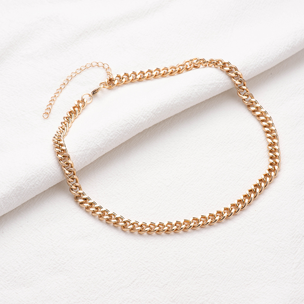 hot selling jewelry simple chain short necklace metal clavicle chain  NHOA244707