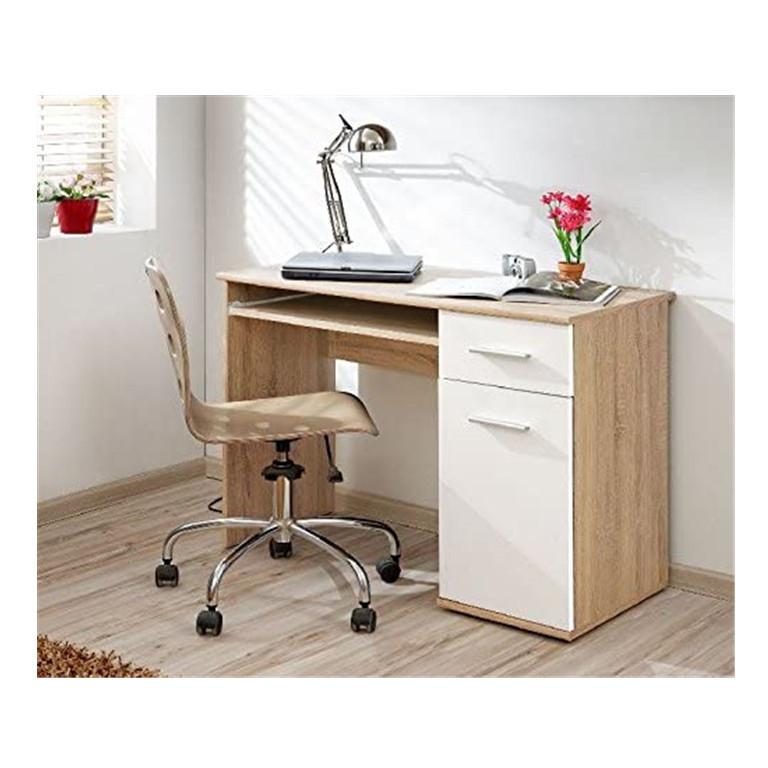 简约现代电脑桌家用桌办公桌学生桌书架电脑笔记本学习桌带抽屉